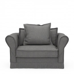 Carlton love seat oxford weave classic charcoal