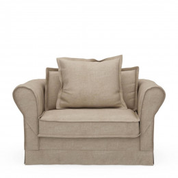 Carlton love seat cotton natural