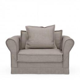 Carlton love seat washed cotton stone