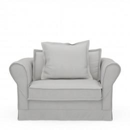 Carlton love seat washed cotton rock grey