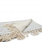 Club stripe throw sand 170x130cm