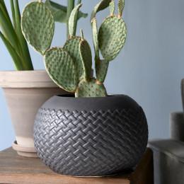 Rm braided planter medium black
