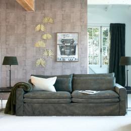 Continental sofa 3 5s velvet ivy