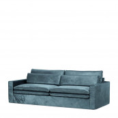Continental sofa 3 5 seater velvet petrol