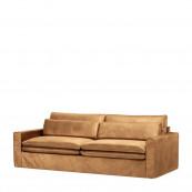 Continental sofa 3 5 seater velvet cognac