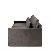 Continental sofa 3 5 seater velvet grimaldi grey
