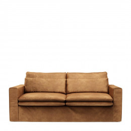 Continental sofa 2 5s velvet cognac