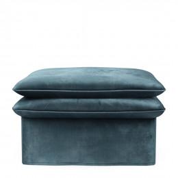 Continental footstool velvet petrol