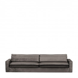 Continental sofa xl velvet grimaldi grey