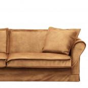Carlton sofa 3 5 seater velvet cognac
