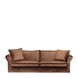 Carlton sofa 3 5 seater velvet chocolate