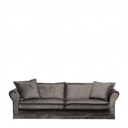 Carlton sofa 3 5s velvet grigrey