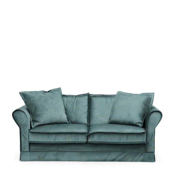 Carlton sofa 2 5s velvet minblue