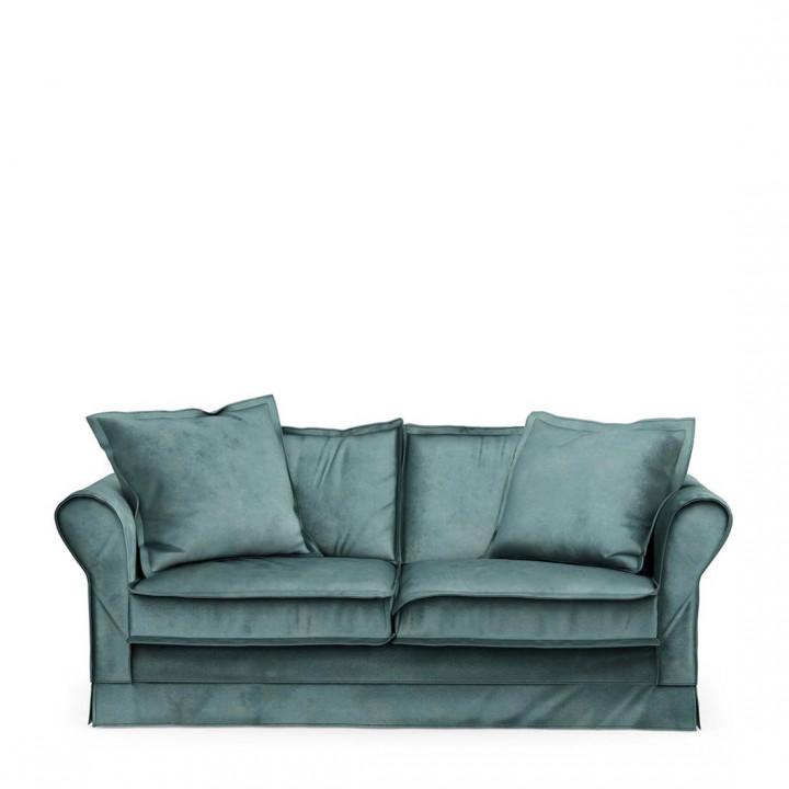 Carlton sofa 2 5 seater velvet mineral blue