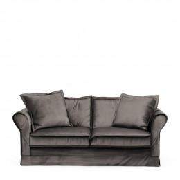 Carlton sofa 2 5s velvet grigrey
