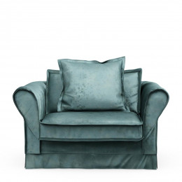 Carlton love seat vel minblue
