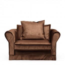 Carlton sofa love seat velvet chocolate