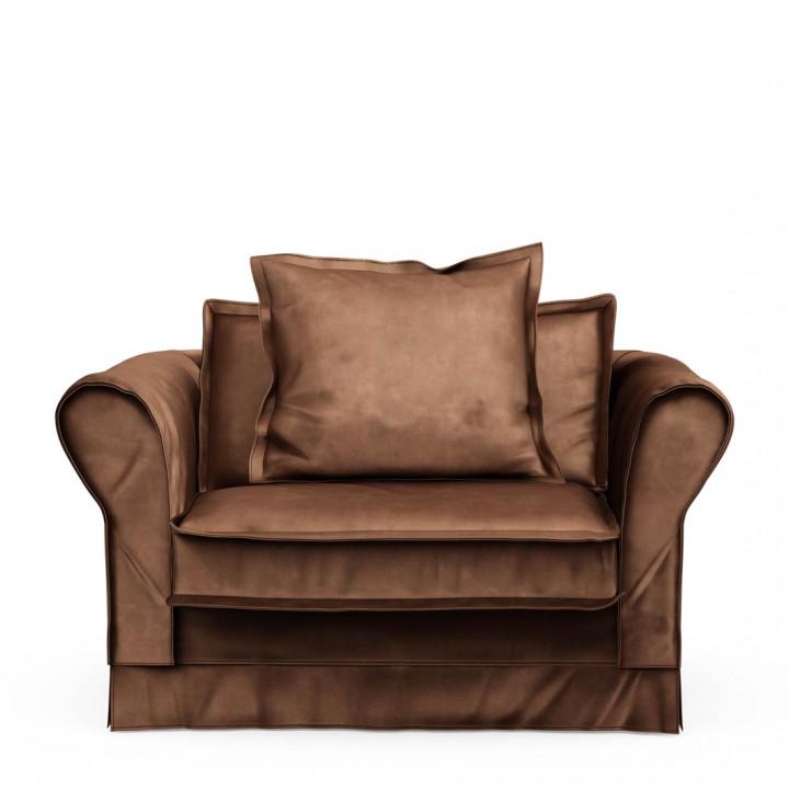 Carlton love seat velvet choco