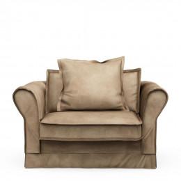 Carlton love seat velvet golden beige