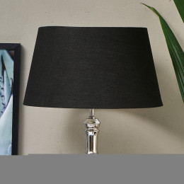 Loveable linen lampshade all black 35x45