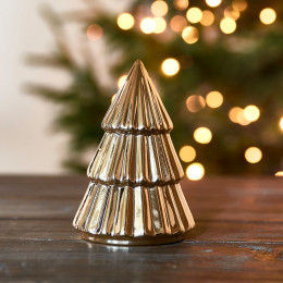 Winter glam christmas tree gold s
