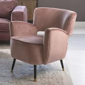 Laurel armchair velvet iii rose stain