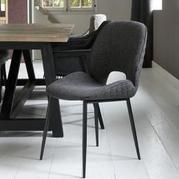 Mr beekman dining chair melane weave carbon