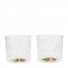 Christmas glam star glass 2 pieces