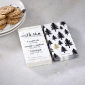 Paper napkin christmas menu