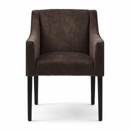 Savile row berkshire dining arm chair cacao