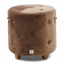 Bowery footstool velvet iii golden mink