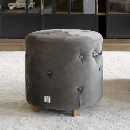 Bowery footstool vell iii anthra