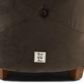 Bowery footstool velvet iii anthracite
