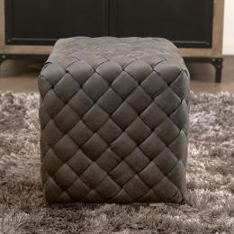 Room 48 stool 40x40 pel espresso