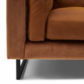 Biltmore love seat leather cognac