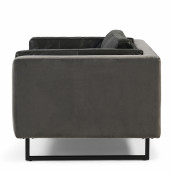 Biltmore love seat leather charcoal