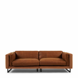 Biltmore 3 5 seater sofa leather cognac