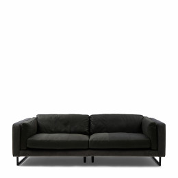 Biltmore 3 5 seater sofa leather charcoal