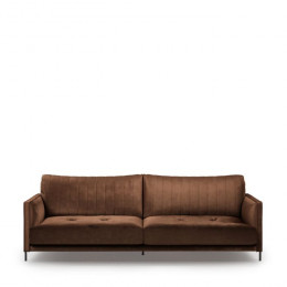 Bal harbour 3 5 seat sofa velvet chocolate