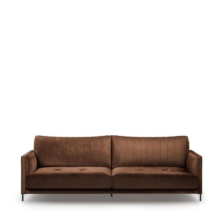 Bal harbour 3 5 seat sofa velvet chocolate