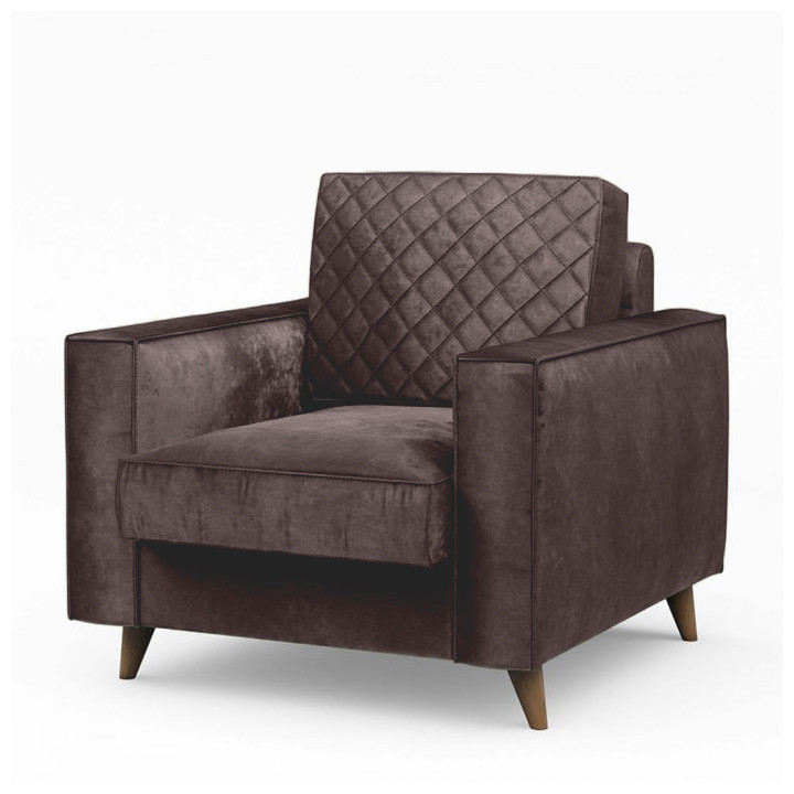 Kendall armchair velvet treasure taupe