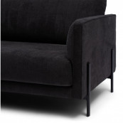 Bal harbour 3 5 seat sofa celtic weave caviar