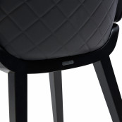 Amsterdam city dining chair black legs black body