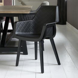 Amsterdam city dining armchair black legs black body