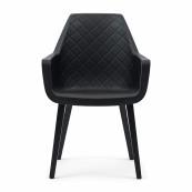 Amsterdam city dining armchair black leg