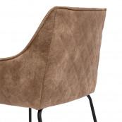 Frisco drive pellini leather counter stool camel