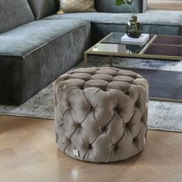 Opera velvet iii footstool anthracite 55cm diameter