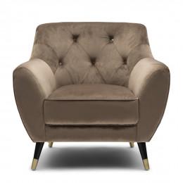 Modena velvet iii armchair golden mink