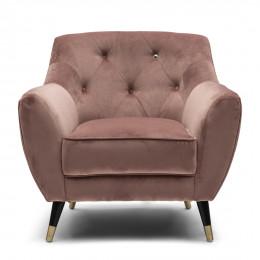 Modena velvet iii armchair rose stain