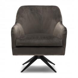 Fawcett velvet iii swivel chair anthracite